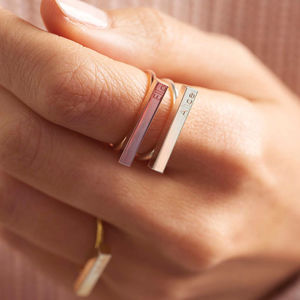 Personalised Bar Ring - stack and style