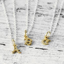 Alphabet Gold And Silver Initial Necklace