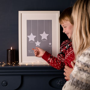 Family Star Print - pictures & prints for children