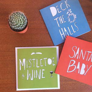 Pack Of Three Recycled Christmas Cards
