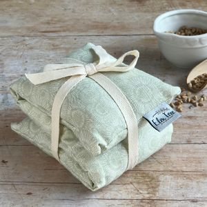 Dahlia Printed Linen Wheat And Lavender Bag