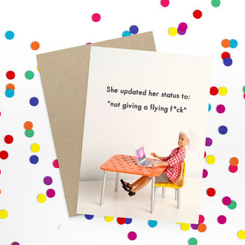 Status Rude Greeting Card