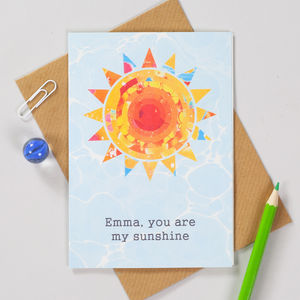 You Are My Sunshine Personalised Birthday Card