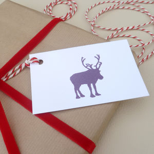 Six 'Reindeer' Christmas Gift Tags - cards & wrap