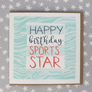 Sports Star Birthday Card