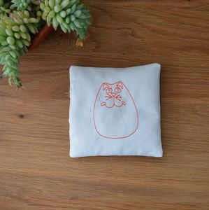 Embroidered Cat Lavender Bag