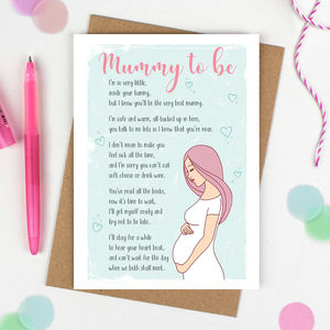 Mummy To Be Card - new baby cards