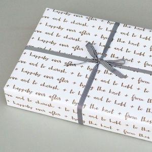 Luxury 'Wedding' Wrapping Paper