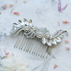 Clare Crystal S Shape Hair Comb