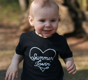 Summer Lovin' Retro Heart Children's T Shirt