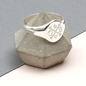 Personalised Sterling Silver Love Match Ring