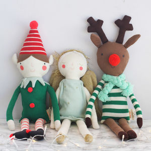 Organic Cotton Christmas Character Cushion