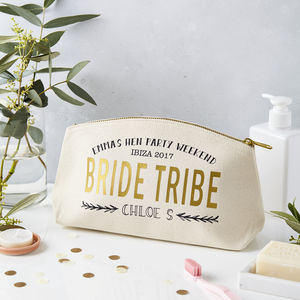 Personalised Bride Tribe Hen Party Make Up Case - hen party ideas