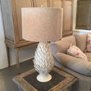 Pineapple Ceramic Table Lamp With Linen Shade