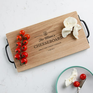 Large Personalized Family Cheese Board
