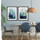 Blue And Teal Landscape Poster Prints Set