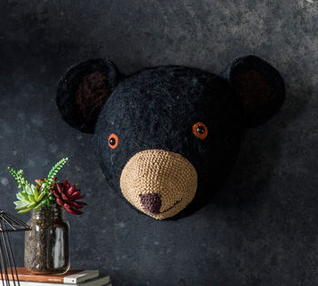 George The Gentle Black Bear Head