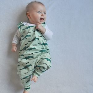 Crocodile Print Baby And Toddler Romper - babygrows