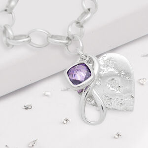 Memorial Heart Ashes Infinity Knot Bracelet