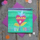 I Love You Sacred Heart Tattoo Valentines Card