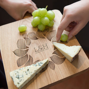 Gift For Couples Oak Chopping Board And Serving Platter - tableware