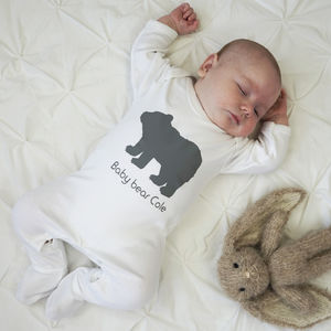 Personalised Baby Bear Sleepsuit