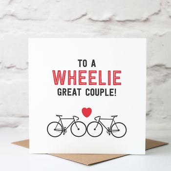 Wedding card for cycling fans