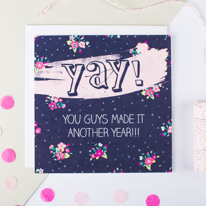 'Yay!' Couples Anniversary Card - shop by category