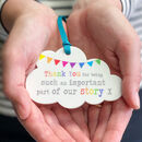 Thank You Our Story Acrylic Cloud Rainbow Keepsake