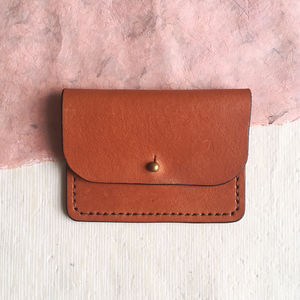 Leather Purse, Vegetable Tanned And Ethically Made