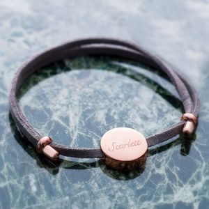 Laila Personalised Bracelet - rose gold jewellery