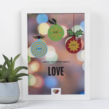 'Greatest Of These Is Love'. An Original Eco Art Print