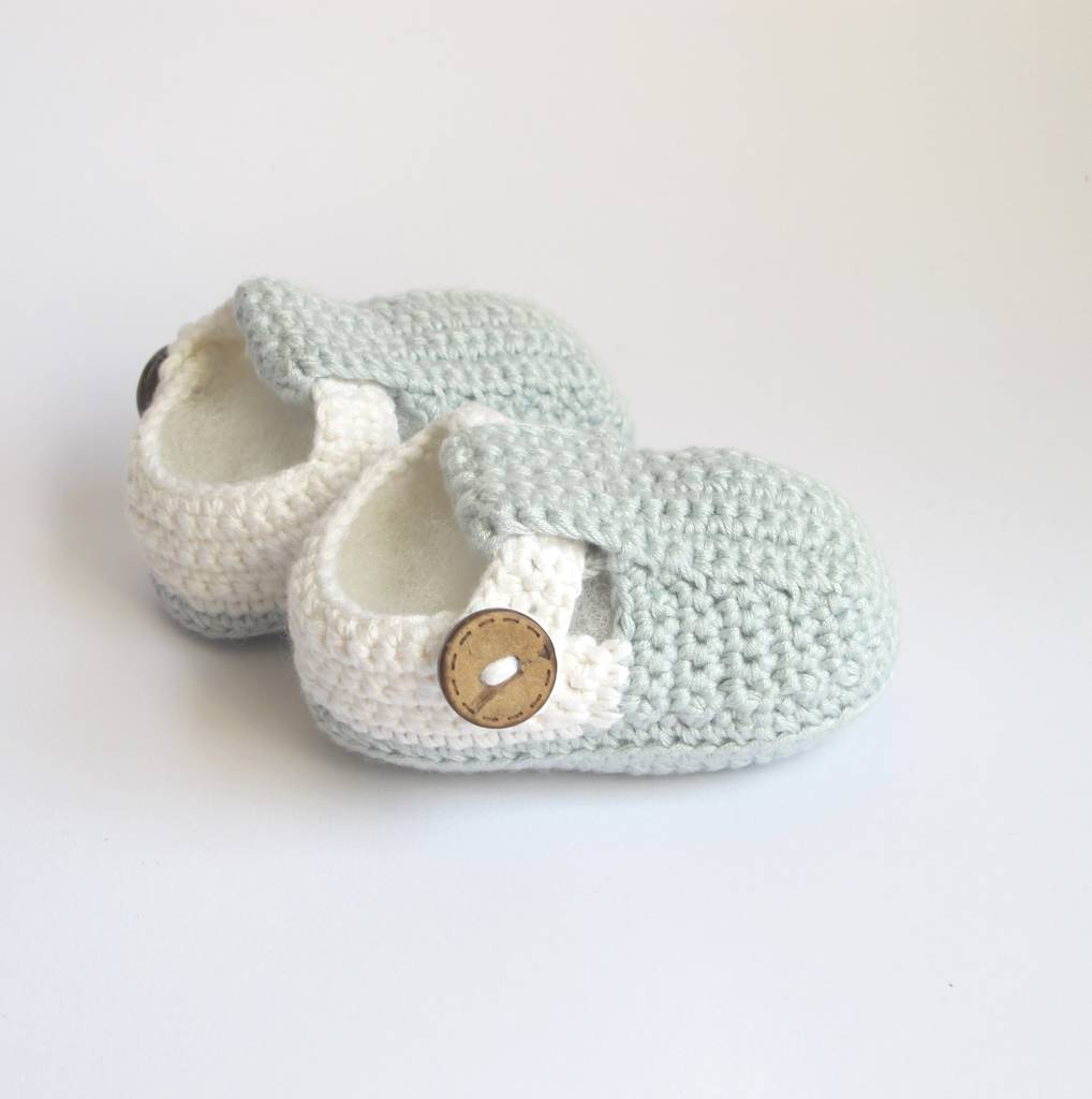 Hand Crochet T Bar Baby Shoes By Attic Notonthehighstreetcom
