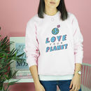 'Love Your Planet' Illustrated Sweatshirt