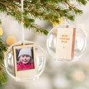 Personalised Wooden Keepsake Photo Glass Dome Bauble