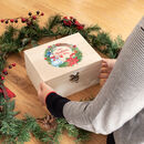 Personalised Snowman Wreath Christmas Eve Box