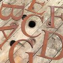 Classic Style Rusty Metal Lettering Letters Signs A Z