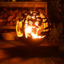 Rusty Metal Deer And Woodland Fire Pit Globe