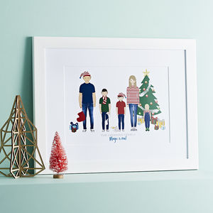 Personalised 'Elf' Family Portrait - gifts for mothers