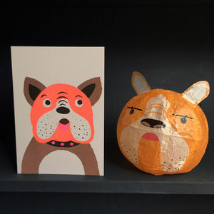 Dog Paper Balloon Greeting Card