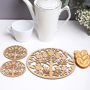 Allure Tea/Coffee Placemat And Coaster Set