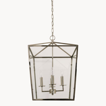 Dunbar Nickel And Glass Four Light Pendant