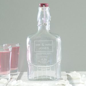 Personalised Wedding Flavoured Vodka Bottle