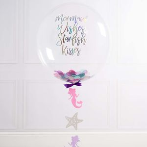 Personalised Mermaid Confetti Filled Balloon