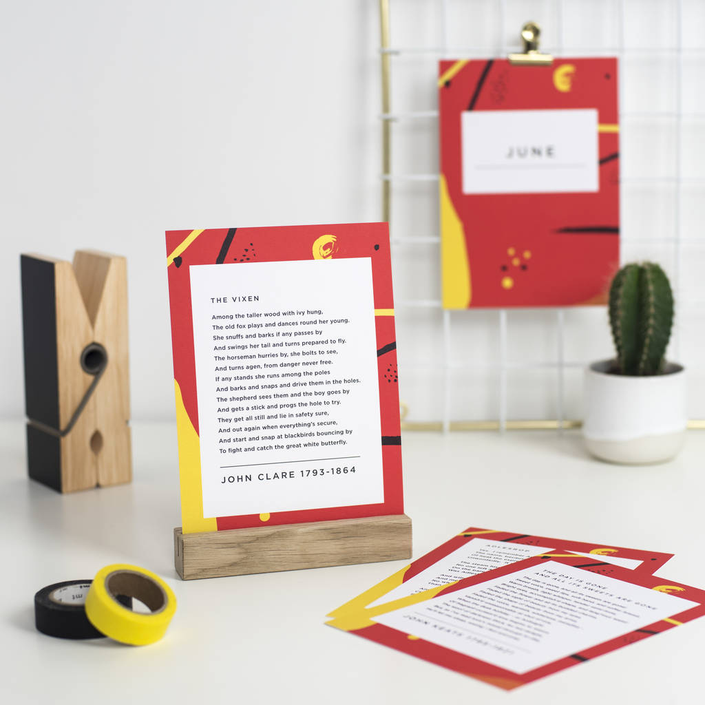 classic poetry subscription by bespoke verse | notonthehighstreet.com