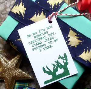 Six Assorted Joke Christmas Gift Tags - shop by category