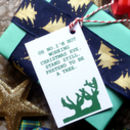 Six Assorted Joke Christmas Gift Tags