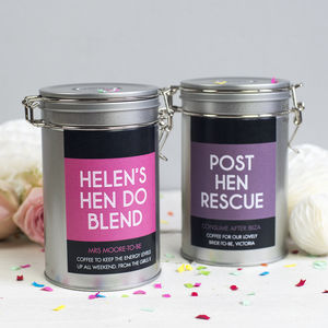 Hen Party Coffee Gift Tin