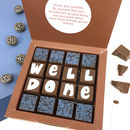 Personalised Well Done Message Chocolates