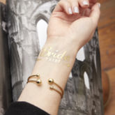 Gold Flash Bride Tribe Temporary Wedding Tattoo - health & beauty